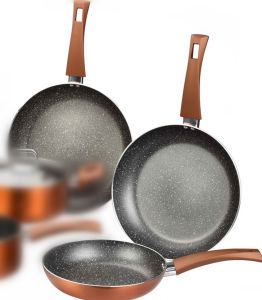 Kitchenware Metallic Copper Aluminum Frying Pans pictures & photos