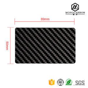 Standard Size Carbon Fiber Business Card Customized Black Membership VIP pictures & photos