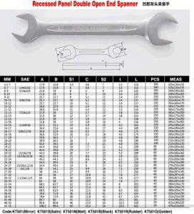 12PCS Double Open End Wrench Set (KT501P) pictures & photos