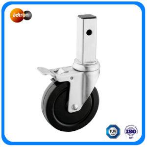 Medium Duty Square Stem Caster Rubber Wheel pictures & photos