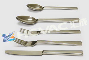 Stainless Steel Cutlery (forks, spoons, knives) PVD Coating Machine pictures & photos