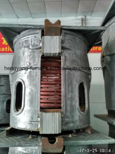 Aluminum Angle and Cans Induction Melting Furnace pictures & photos