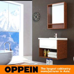 Oppein Wooden Bath Cabinet with Tempered Glass Top (OP15-121C) pictures & photos