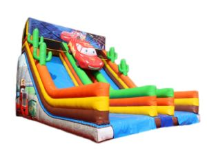 Cars Inflatable Double Slide, Inflatable Dry Slide for Adults Chsl654 pictures & photos