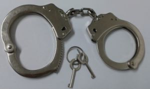Police Handcuff with Double Locking pictures & photos