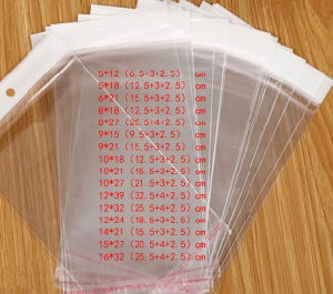 OPP Self Adhesive Bag with Header and Hang Hole pictures & photos