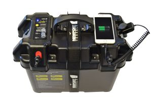China trolling motor case power center battery holder for Electric trolling motor battery size