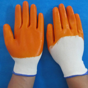Rubber Work Safety PVC Nylon Household Latex Gloves pictures & photos