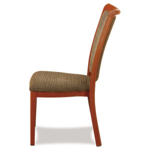 Hotel Aluminum Wood Grain Dining Chair pictures & photos