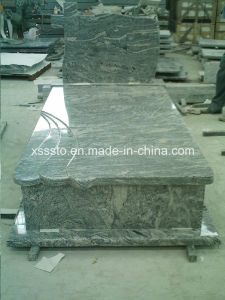 China Juparana Granite European Style Memorial Tombstone Monuments for Cemetery pictures & photos