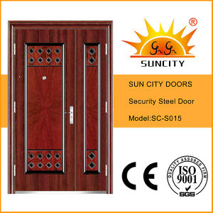 Hot Models One and Half Leaf Steel Door (SC-S015) pictures & photos