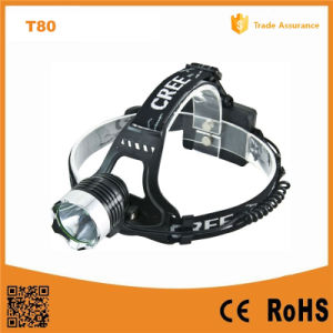 10W CREE Xm-L T6 Aluminum LED Headlamp (POPPAS- T80) pictures & photos