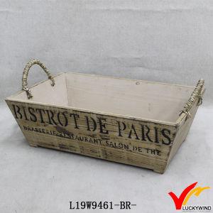 """""""Flowerpot De Rose"""" Rustic Wood Planter Box pictures & photos"""