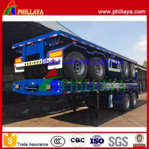 2 Axle 40FT Flatbed Semi Trailer Container Semi Trailer pictures & photos