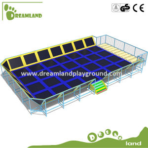 Colorful Small Open Indoor Commerci Trampolin with Foam Pit pictures & photos