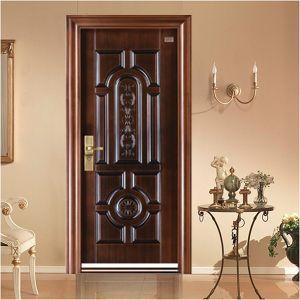 Copper Surface Steel Security Door pictures & photos