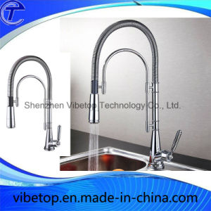 Custom Made Stainless Steel Dual Spray Brass Kitchen Faucet Mixer pictures & photos