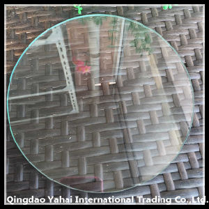 4mm Large Round Clear Float Glass with Polished Edge pictures & photos