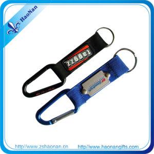 PVC Logo Short Lanyard Strap Carabiner Keychain pictures & photos