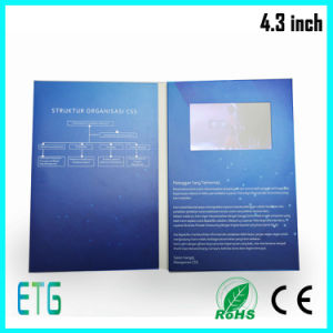 4.3 LCD Video Brochure Ce/RoHS/FCC LCD Greeting Card Wedding Invitation Cards pictures & photos