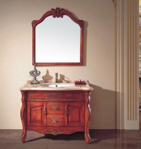 Hot Sales Solid Wood Furniture Bathroom Cabinet (ADS-622) pictures & photos