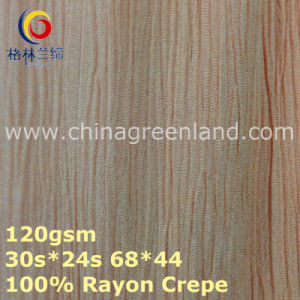 100%Rayon Crepe Woven Dyeing Fabric for Garment Textile (GLLML373) pictures & photos