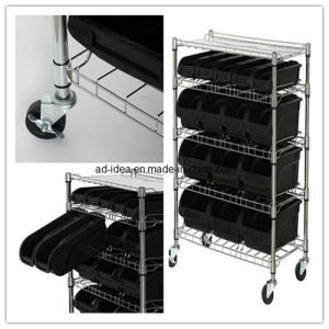 Girt Metal Wire Mesh Basket Counter Top Display pictures & photos