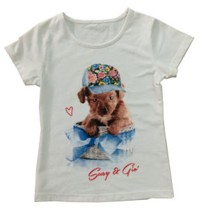 Fashion Girl Baby T-Shirt in Children Clothes Apparel with Printingsgt-078 pictures & photos