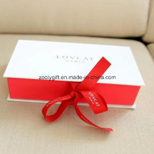 Paper Gift Packing Box with Ribbon Closure for Wallet pictures & photos