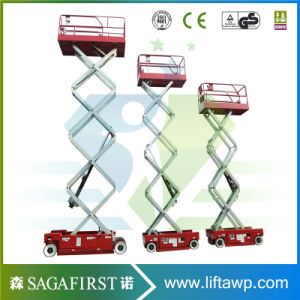 on Promotion Hydraulic Lifting Trolley Self Propelled Scissor Lift Electric Ladders pictures & photos