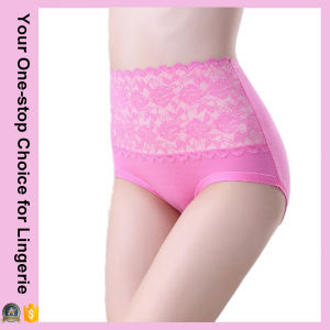 Women Body Shaping High Waist Lace Panties (14308) pictures & photos
