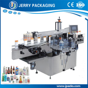 Automatic Square & Flat Bottle Double-Sided Sticky Label Labeling Machine pictures & photos