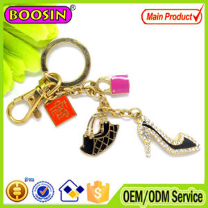 Elegant Rhinestone High Heel Shoes Keychain for Decoration#14930 pictures & photos