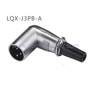 Competitive Audio Connectors 3-Pin Angle Male XLR Connector with RoHS pictures & photos