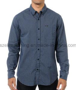 Cotton Polyester Blouse Latest Design Men Formal Shirts (ELTDSJ-297) pictures & photos