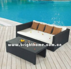 PE Rattan Wicker Outdoor Furniture Sofa Set Bg-Mt05 pictures & photos