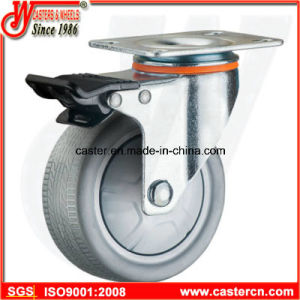 Medium Duty Gray TPR Rubber Casters pictures & photos