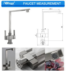 Double Handles Steel Parts for Kitchen Faucet (AB108) pictures & photos