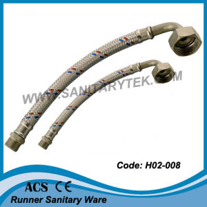 Stainless Steel Braided Flexible Hose, M/M Thread (elbow connector) pictures & photos