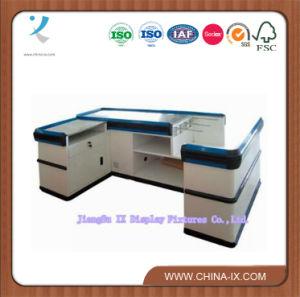 Wood &Metal Cashier Desk or Checkout Desk pictures & photos