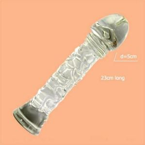 Stand up Pyrex Glass Sex Toy Heated Dildo (IJ-GD2010) pictures & photos