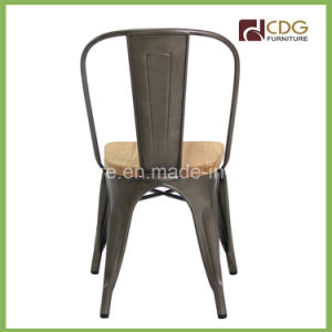 618-Stw Steel Color Wooden Colored Tubular Metal Chairs