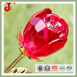 Red Large Rose Open Crystal Glass Flower (JD-CF-101) pictures & photos