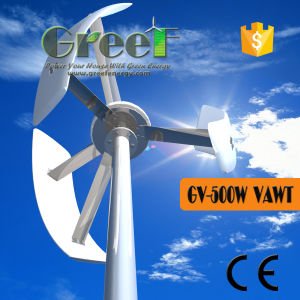 500W Vertical Axis Wind Turbine off-Grid System Made in China pictures & photos