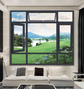 Thermal Break Heat and Sound Insulation Aluminium Window pictures & photos