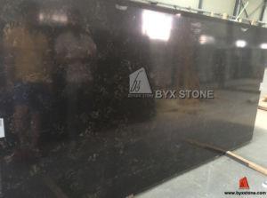 Portoro Black Artificial Quartz Slab for Kitchen Countertop pictures & photos