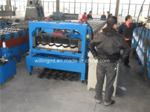 PLC Hydraulic Galazed Steel Tile Colded Roll Forming Machine pictures & photos