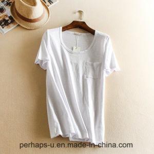 High Quality Women Clothes Loose Pure Color Cotton T-Shirt pictures & photos