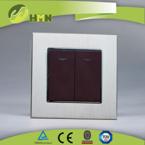 Ce Certified EU Standard China Brushed Aluminum Wall Switch pictures & photos