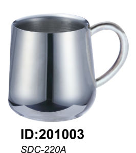 18/8 High Quality Stainless Steel Double Wall Mug Sdc-220A pictures & photos